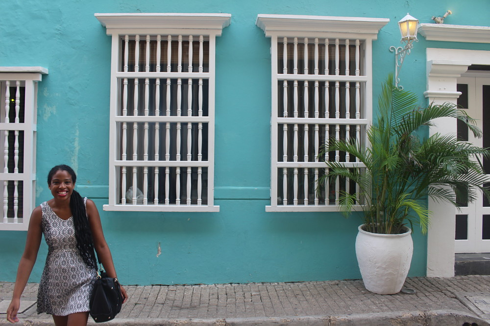 Colorful walls of Cartagena
