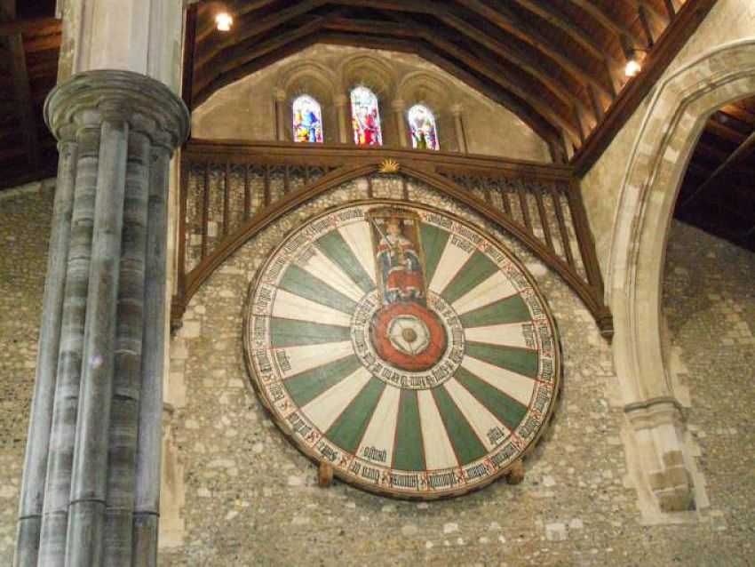 King Arthur's Round Table - inside the Great Hall